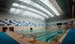 炮兵工程学院游泳馆主体工程内景