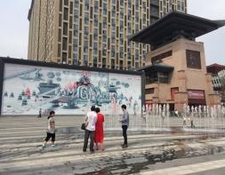 老城根G-park商业街大阙钢结构及弧形连廊