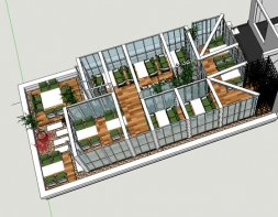 老城根G-park商业街-涮锅楼新增钢结构